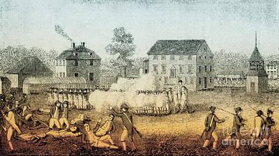 Battle Of Lexington, 1775 Poster by Photo Researchers