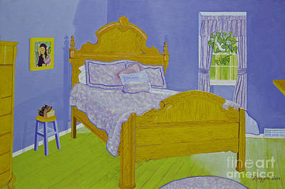 Bedroom At Elkhorn Poster by Christine Belt