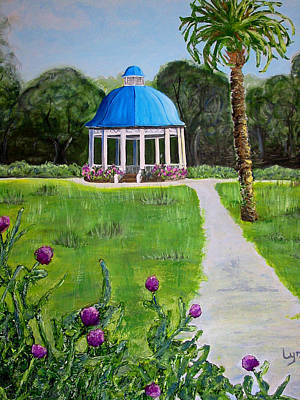 Poster featuring the painting Bev's Bandstand by Lyn Calahorrano