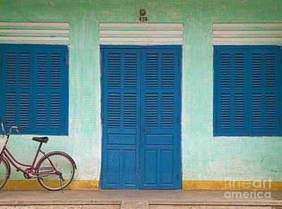Bike Parked On A Front Porch Poster