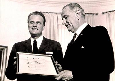 Billy Graham & President Lyndon B Poster