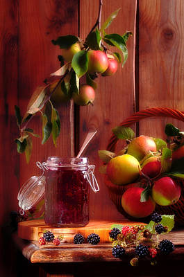 Blackberry And Apple Jam Poster