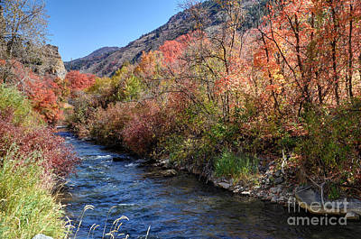 Blacksmith Fork River In The Fall - Utah Poster by Gary Whitton