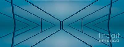 Blue Reflection Poster by Odon Czintos