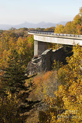 Blue Ridge Parkway Linn Cove Viaduct Fall Colors Poster