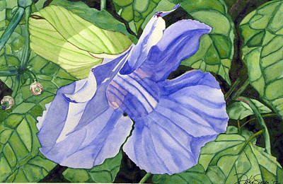 Poster featuring the painting Blue Sky Vine by Debi Singer