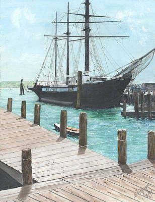 Poster featuring the painting Boat With A History by Stuart B Yaeger