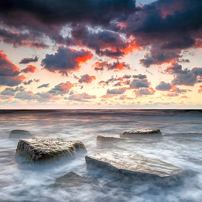 Boiling Sea Poster by Evgeni Dinev