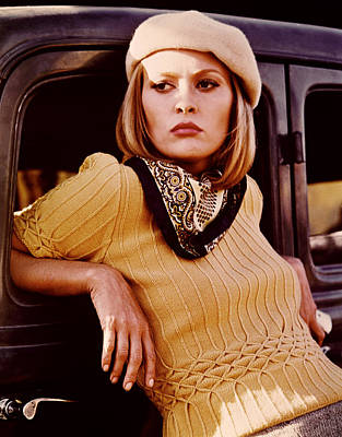Bonnie And Clyde, Faye Dunaway, 1967 Poster by Everett