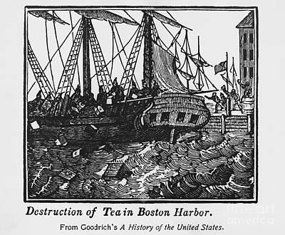 Boston Tea Party, 1773 Poster by Omikron