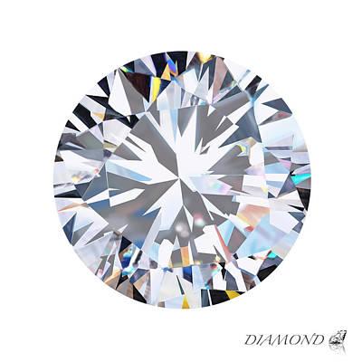 Brilliant Diamond Poster by Setsiri Silapasuwanchai
