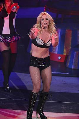 Britney Spears On Stage For The Circus Poster by Everett