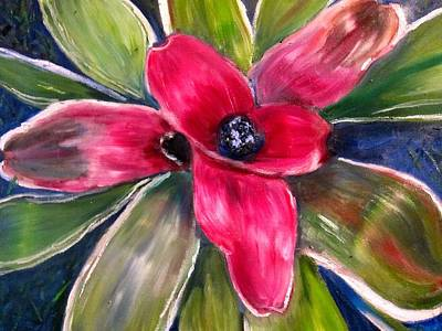 Bromeliad Poster by Kathryn Barry