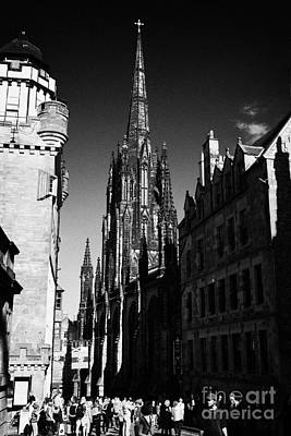 Camera Obscura The Witchery And The Hub On The Royal Mile Edinburgh Scotland Uk United Kingdom Poster by Joe Fox