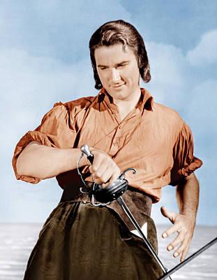 Captain Blood, Errol Flynn, 1935 Poster by Everett