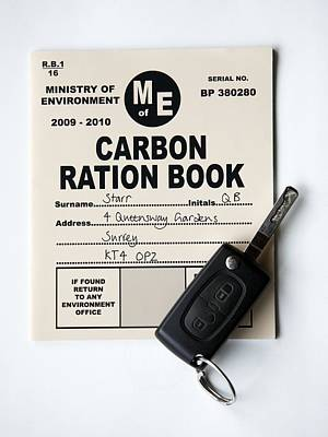 Carbon Ration Book For Driving Poster by Victor De Schwanberg