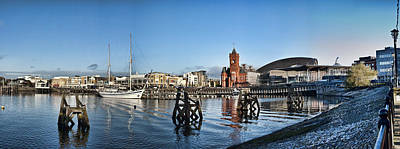 Cardiff Bay Panorama Poster by Steve Purnell