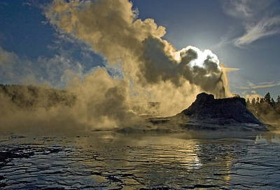 Poster featuring the photograph Castle Geyser  by Gordon Ripley