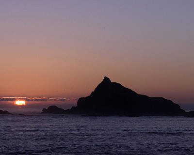Poster featuring the photograph Castle Rock Sunset by Betty Depee