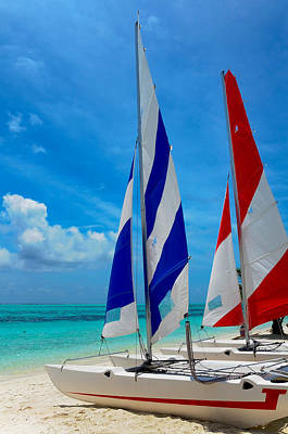 Catamarans On The Beach  Poster