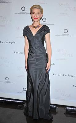 Cate Blanchett Wearing A Balenciaga Poster