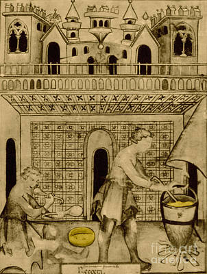 Cheese Maker, Medieval Tradesman Poster by Science Source