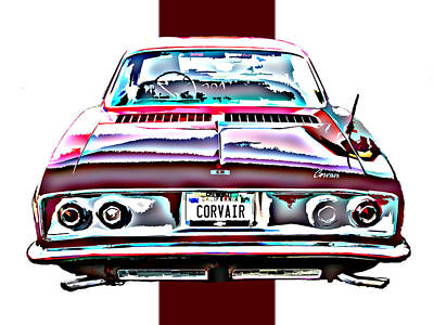 Chevy Corvair Rear Study Poster by Samuel Sheats