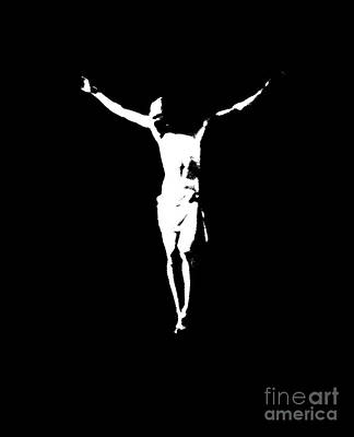 Christ In Black And White  Poster by J Jaiam