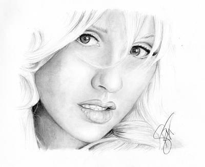 Christina Aguilera Poster by Rosalinda Markle