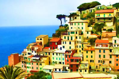 Cinque Terre Poster by Dawn Nicoli