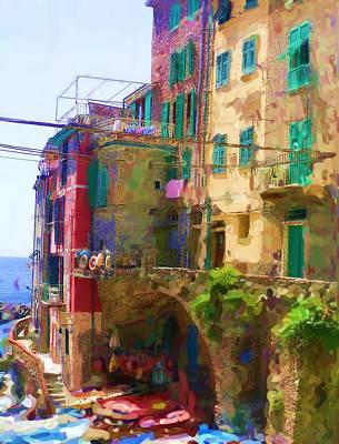 Cinque Terre Village Of Riomaggiore Poster