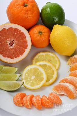 Citrus Fruit Poster by Photo Researchers, Inc.