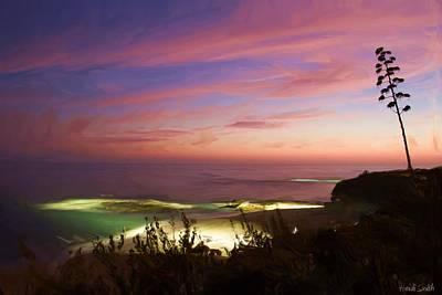 Coastal Sunset Poster by Heidi Smith