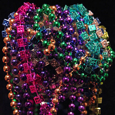 Colorful Mardi Gras Beads Poster