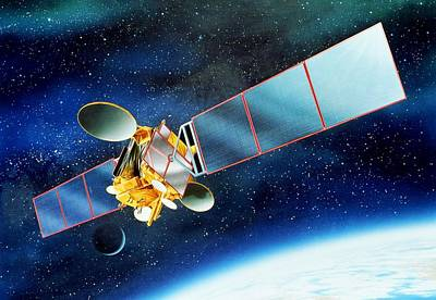 Communications Satellite Poster