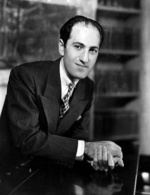 Composer George Gershwin At The Piano Poster