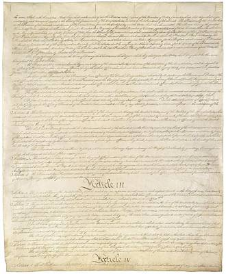Constitution Of The United States Poster by Everett