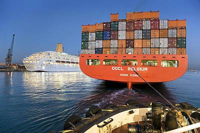 Container Ship Poster by Paul Rapson