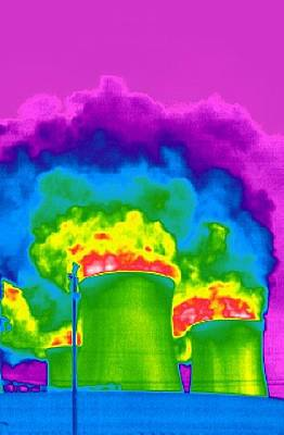 Cooling Towers, Thermogram Poster by Tony Mcconnell