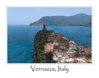 Corniglia Cinque Terre Italy Poster by Brandon Bourdages