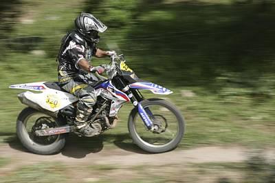 Cross Country Motorbike Racing Poster