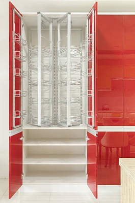 Cupboard With Stainless Steel Metal Poster