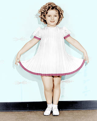 Curly Top, Shirley Temple, 1935 Poster by Everett