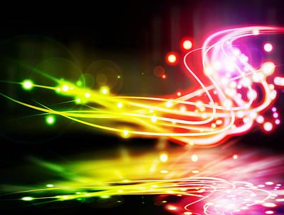 Dancing Lights Poster by Setsiri Silapasuwanchai