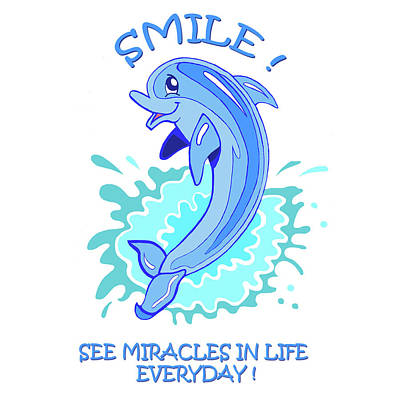 Darla The Dolphin Poster by John Keaton