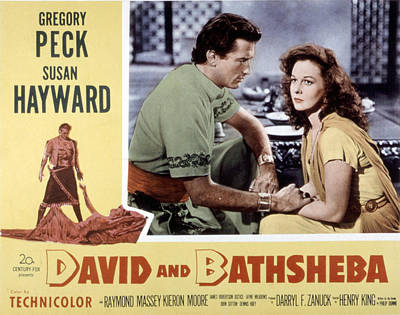 David And Bathsheba, Gregory Peck Poster by Everett