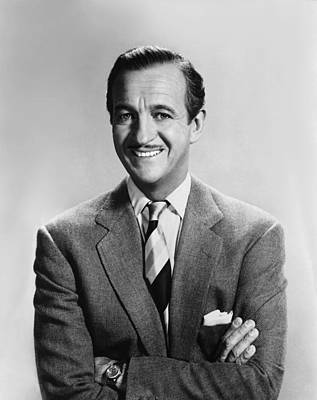 David Niven, 1950s Poster by Everett