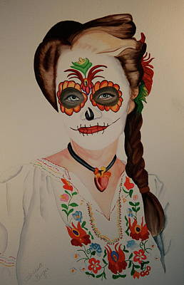Day Of The Dead Poster by Teresa Beyer