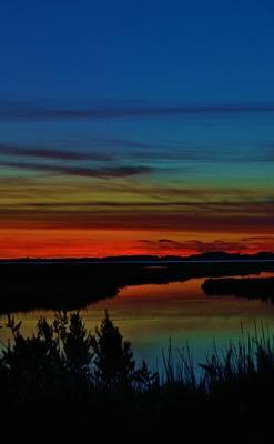 Deep Marshland Sunset Poster by William Bartholomew