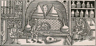 Distillation, Middle Ages Poster by Science Source